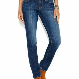 8/29 LUCKY BRAND Ankle Sweet J Straight Blue Jeans